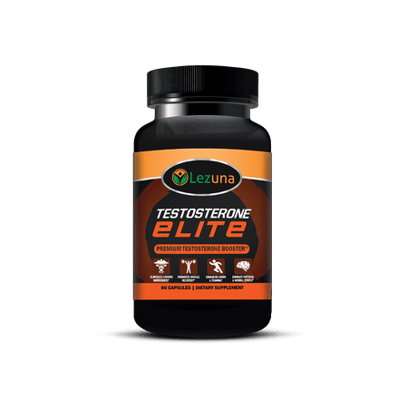 Lezuna Elite Testosterone Booster, KSM 66 Ashwagandha, Primavie Shilajit, Vitamin D, Boron | Enhanced Muscle Recovery, Increased Stamina, Clinically Studied Ingredients - 60