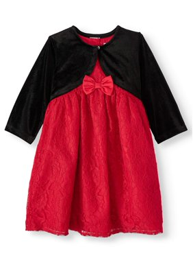 Wonder Nation Baby Toddler Girl Christmas Holiday Lace Dress