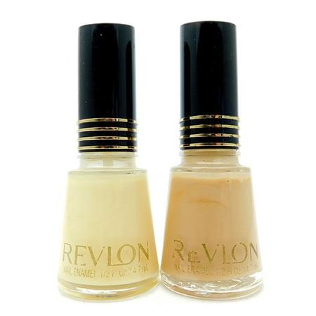 Revlon Nail Enamel set of 2: 88 Naked Ivory, 150 Sheer Pure Nude ...