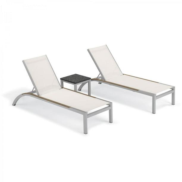 Argento 3 Piece Aluminum Patio Chaise Lounge Set W