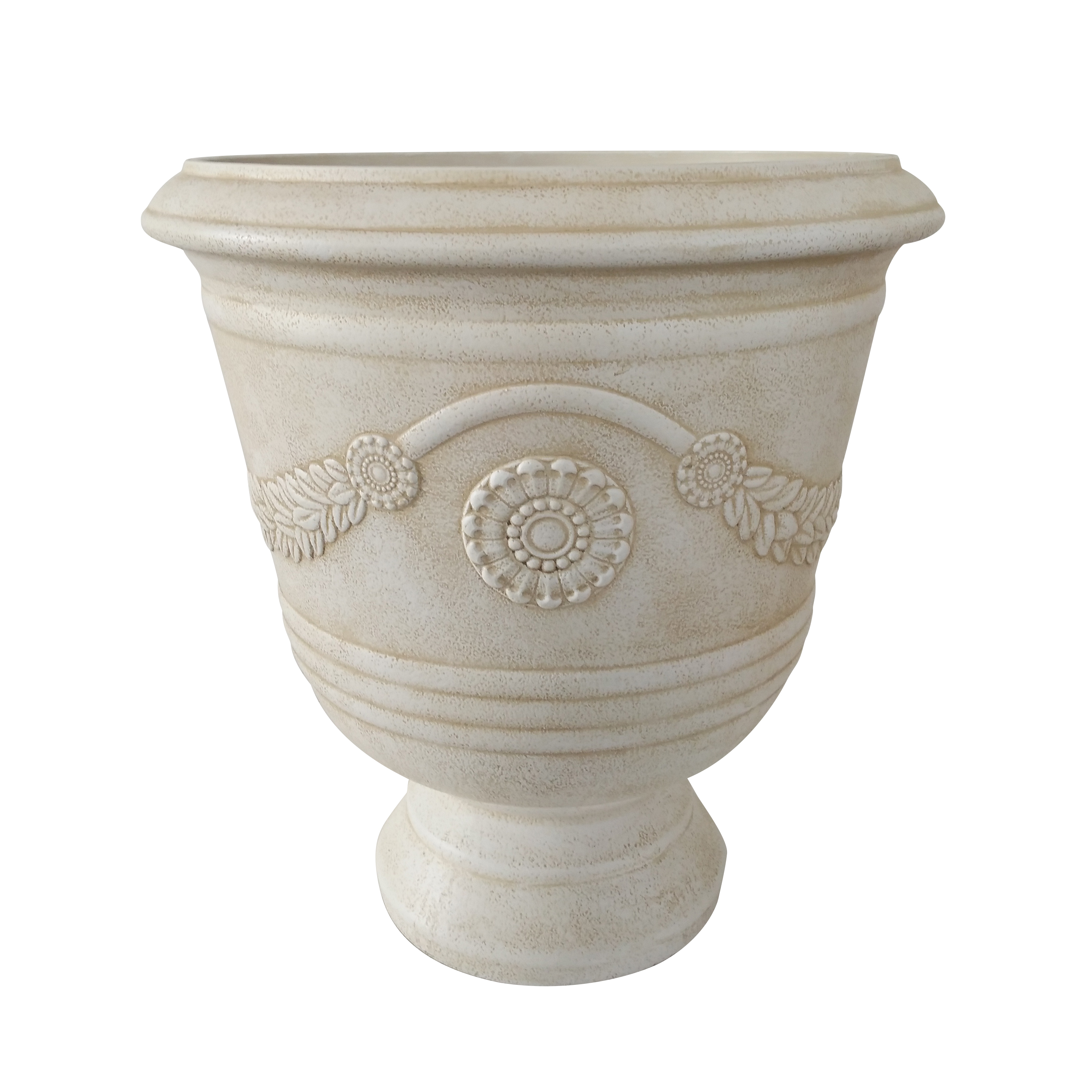 Better Homes and Gardens Greythorne 17 in. Outdoor Urn Planter Set of 2 by ATT SOUTHERN INC