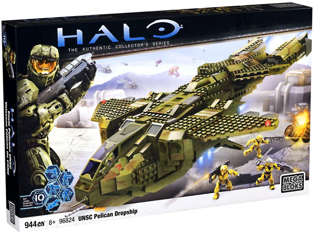 Halo UNSC Pelican Dropship Set Mega Bloks 96824 by Mega Brands