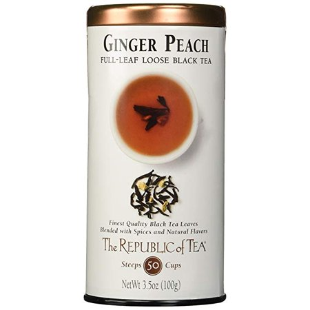 The Republic Of Tea Ginger Peach Black Full-Leaf Tea, 3.5 Ounces / 50-60 Cups Votivo Black Ginger