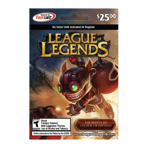 League of Legends $25 Riot Points Card