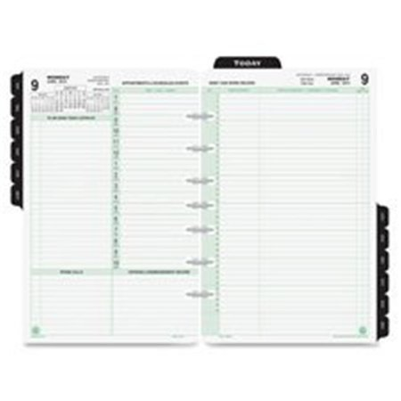 Monticello Dated Daily Calendar Refill - Day-Timer Reference Dated Two-Page-Per-Day Organizer Refill, 5-1/2