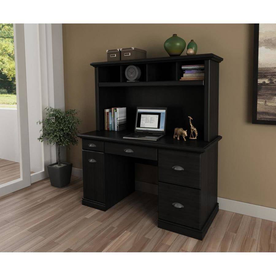 view harbor hutch desk sauder products computer with