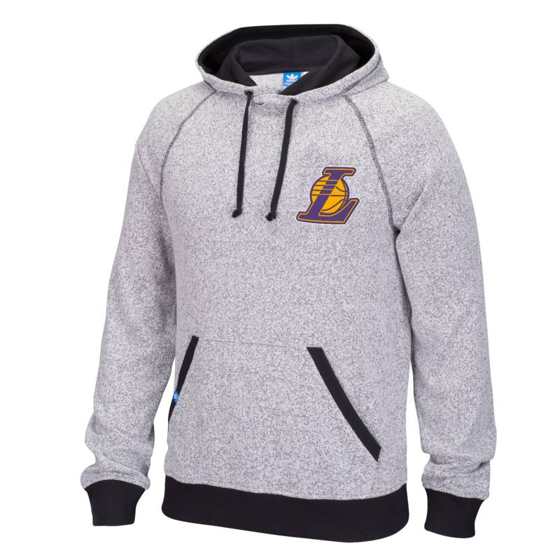 Adidas Los Angeles Lakers Originals Pullover Hoodie (Gray)