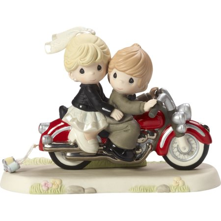 Precious Moments 172008 Together Wherever The Road May Lead - Wedding Couple On Motorcycle Figurine