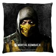 Mortal Kombat X Scorpion Throw Pillow White 20X20