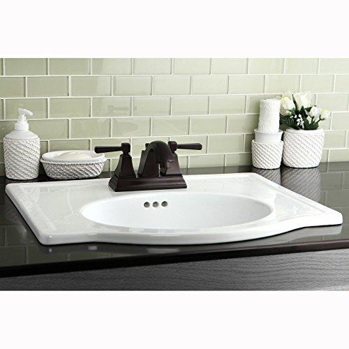 Oil Rubbed Bronze Centerset Neo-classical Bathroom Faucet