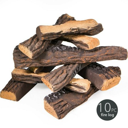 Replacement Fake Ceramic Log Set for Fireplace Fire Pit ()