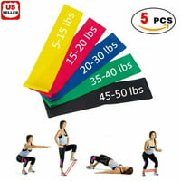 Deals on Resistance Bands Loop Set of 5 Exercise Workout Band