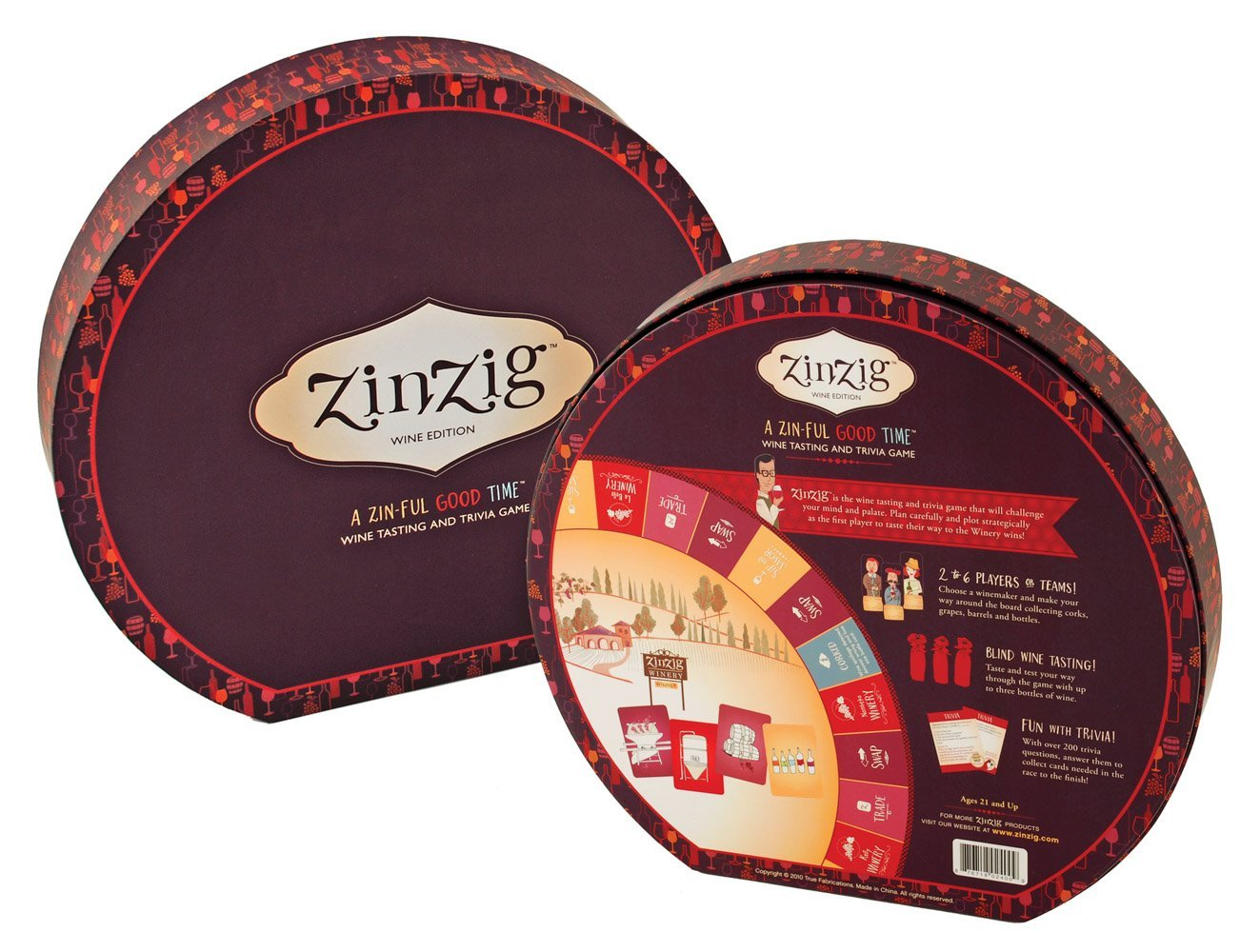 Zinzig Wine Tasting And Trivia Board Game by, For Two To Six Players Or  Teams By True