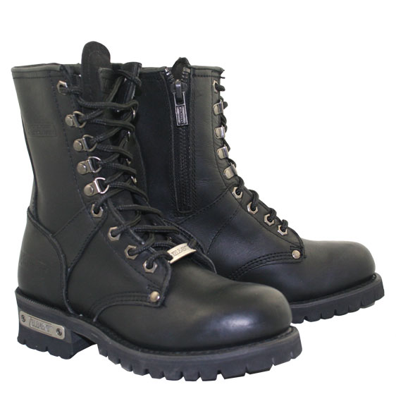 Xelement 2446 Vigilant Womens Black Logger Boots with Inside Zipper