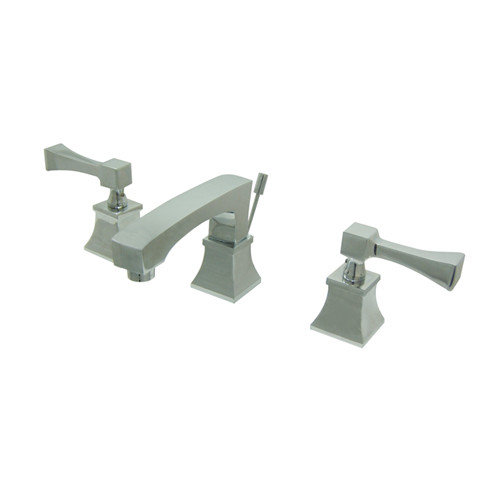 """Kingston Brass Towne Square Two Handle 8"""" to 16"""" Widespread Lavatory Faucet with Brass Pop-up"""