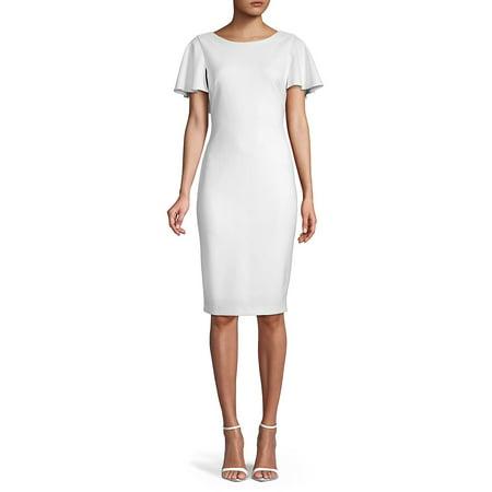 Ruffle Cape Sheath Dress Diane Von Furstenberg Silk Dress