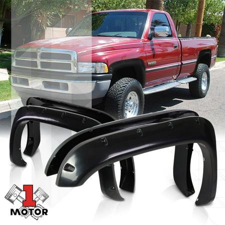 - Glossy Pocket Bolt/Rivet Fender Flares Wheel Cover for 94-02 Dodge Ram 1500 2500 95 96 97 98 99 00 01