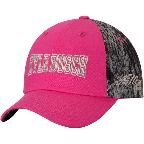 Girl's Youth Pink Kyle Busch TrueTimber University Adjustable Hat