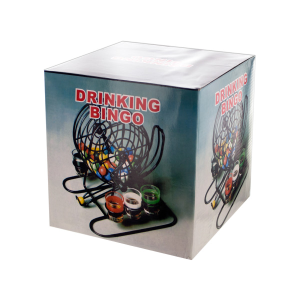 Bingo Drinking Game With Cage &Amp; Shot Glasses (Pack Of 1)