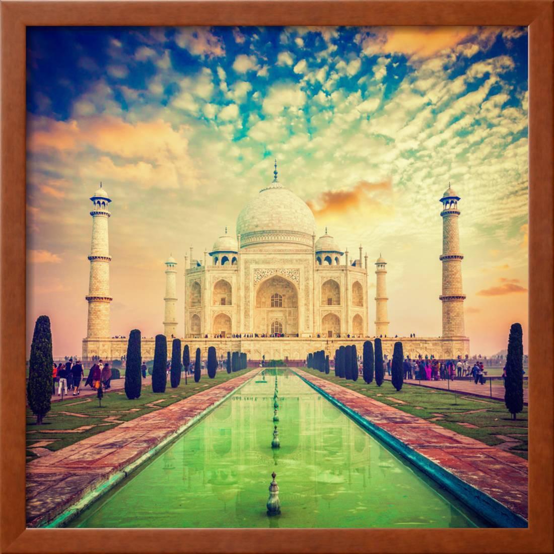 Taj Mahal on Sunrise Sunset, Agra, India Framed Print Wall Art By ...
