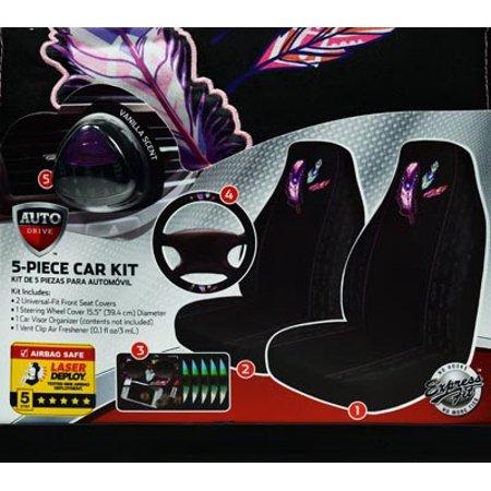 Auto Drive 5pc Purple Feather