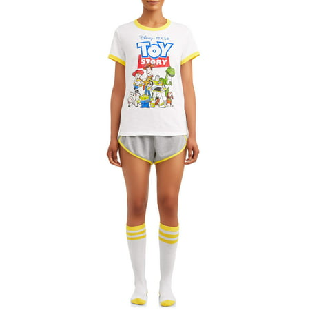 Disney's Toy Story Women's and Women's Plus 3pc Vintage Short Set
