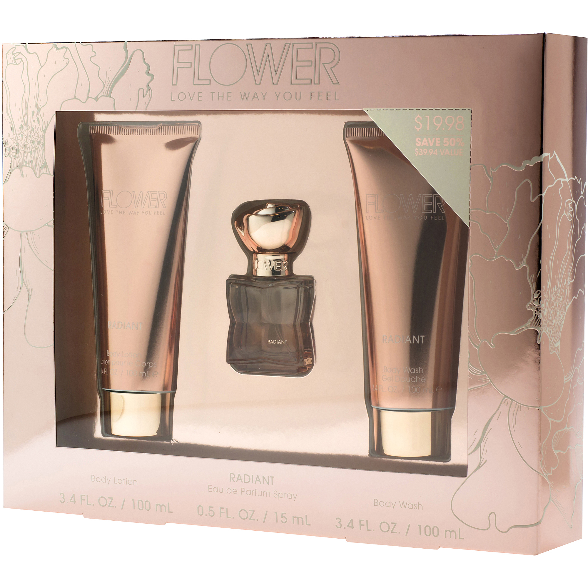 Flower by Drew Barrymore Radiant Classic Fragrance Set, 3 pc
