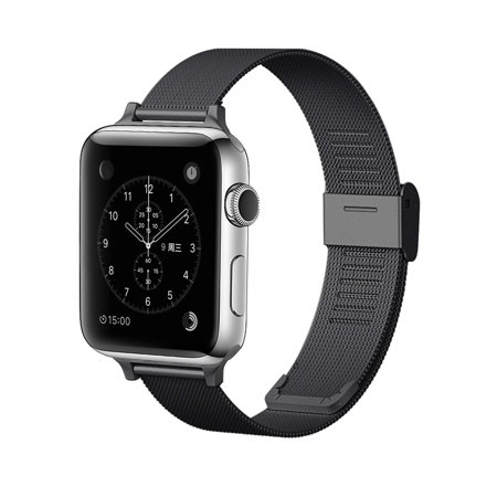 Element Works Wrist Apple watch band 38mm/42mm: Stainless Steel Mesh Style Replacement Bands for Apple Watch Series 1 & 2 ( 38mm ) - (Band Mesh Wrist Watch)