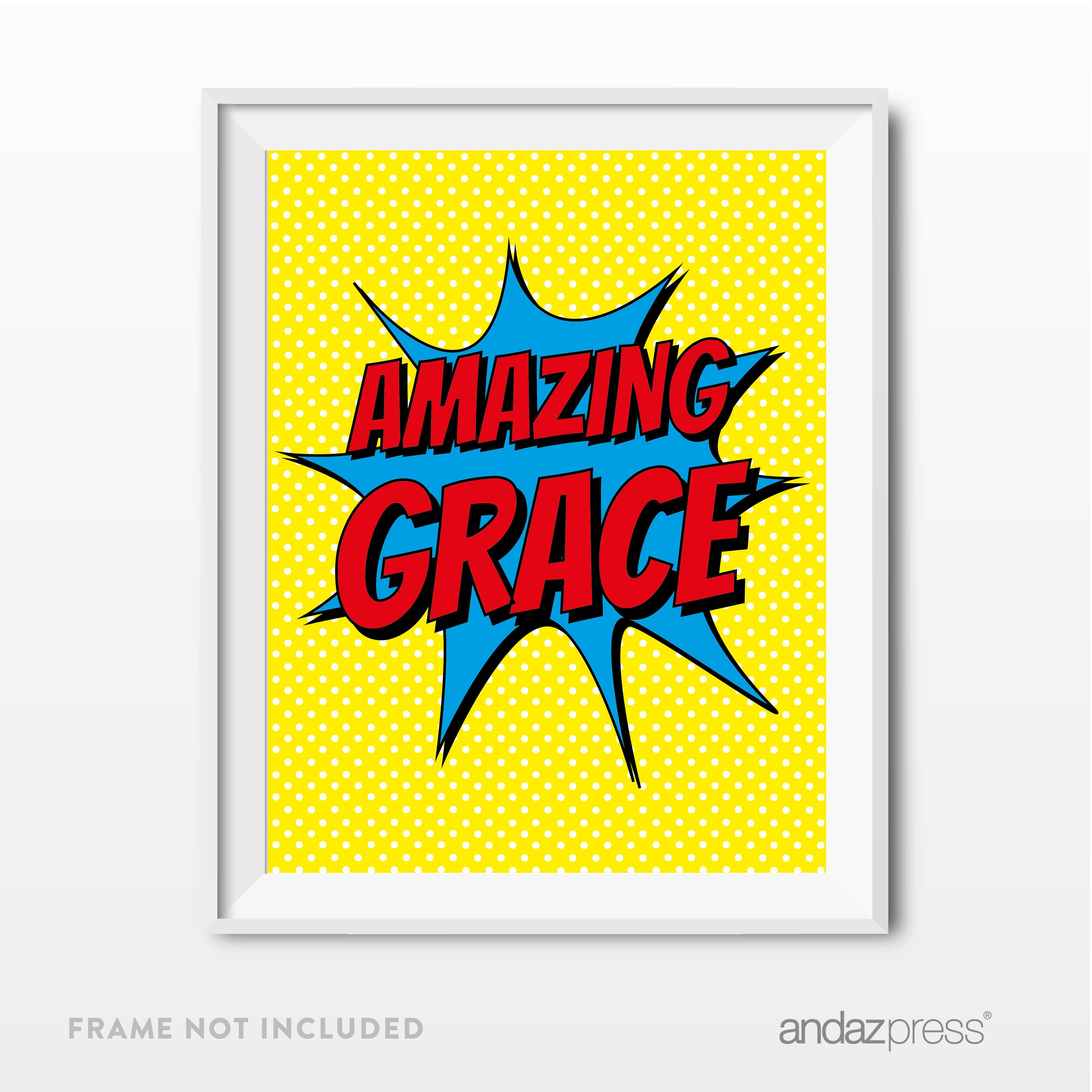 Amazing Grace, For Kids Room, Nursery Art, Dorm Room Bible Verses ...