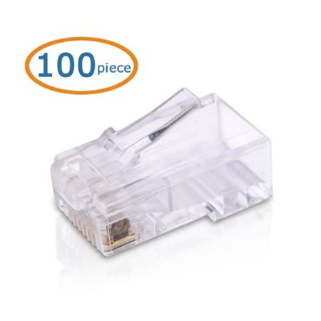 Cable Matters 100-Pack Cat 6 / Cat6 RJ45 Modular Plugs (RJ45 Plugs) for Stranded UTP Cable ()