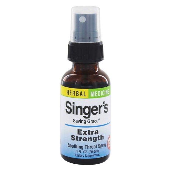 Herbs Etc - Singer's Saving Grace Soothing Throat Spray Extra Strength - 1  oz
