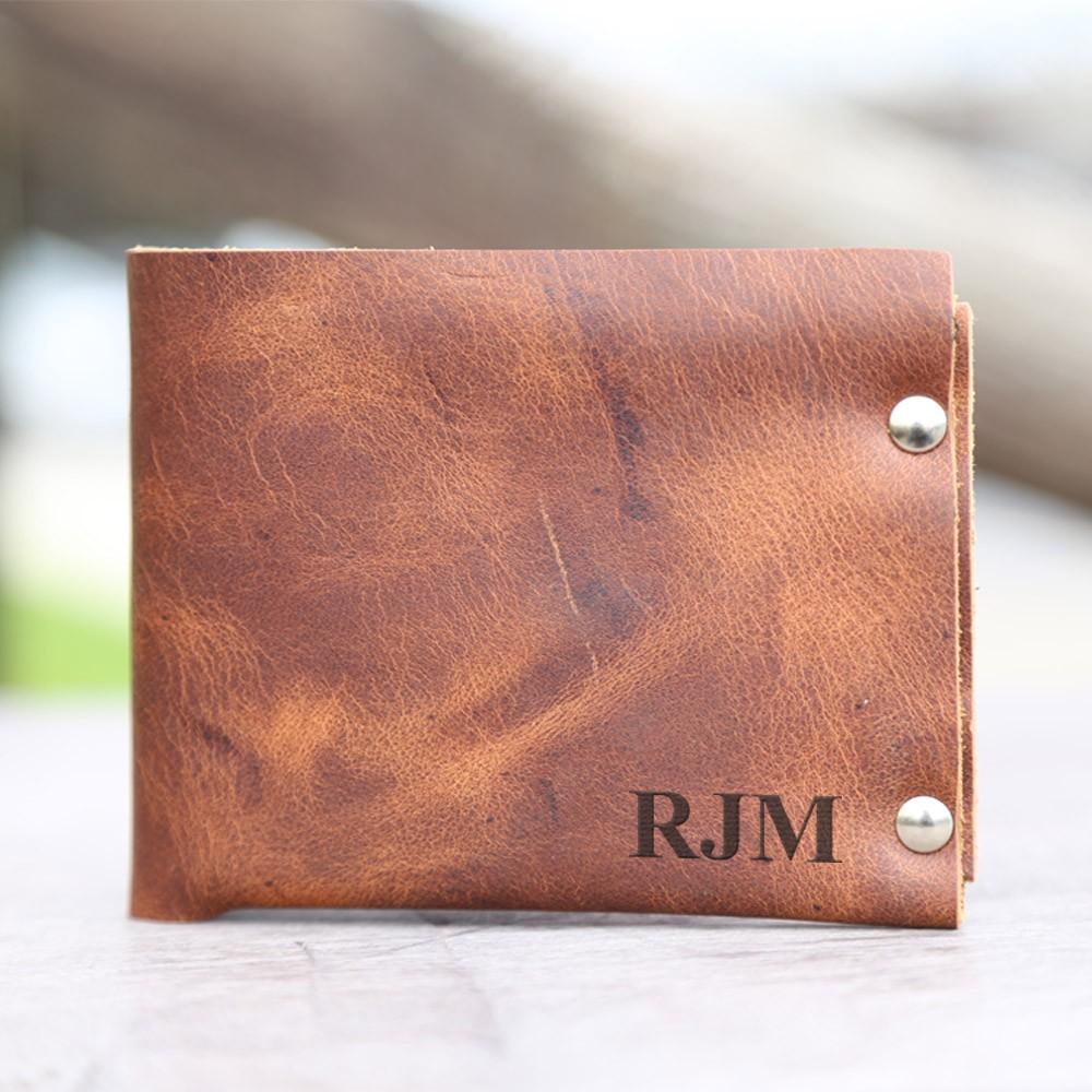 Personalized Genuine Leather Bi-Fold Wallet