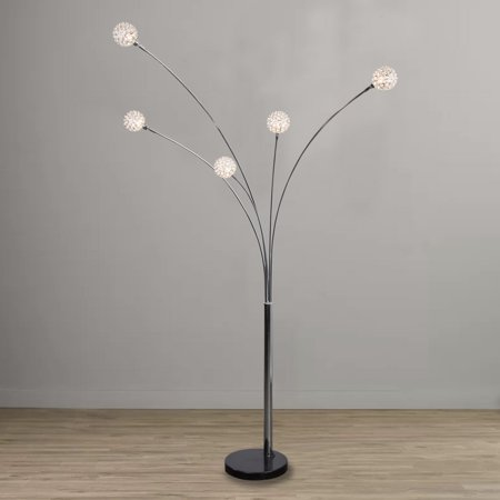 88 Crystal Ball Arc Floor Lamp