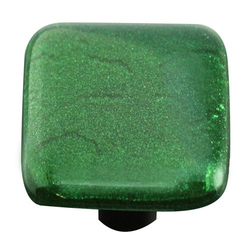 Aquila Art Glass Solids Square Knob