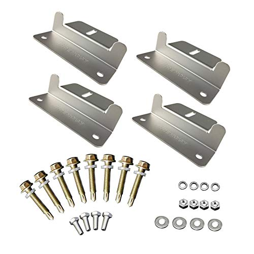 Details about  /Solar Panel Z bracket Mounting Mount Flat Roof Wall Aluminum 2 Set