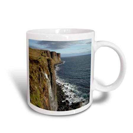 3dRose Kilt Rock Waterfall, Trotternish Isle of Skye Scotland - EU36 DWA0013 - David Wall, Ceramic Mug, 15-ounce
