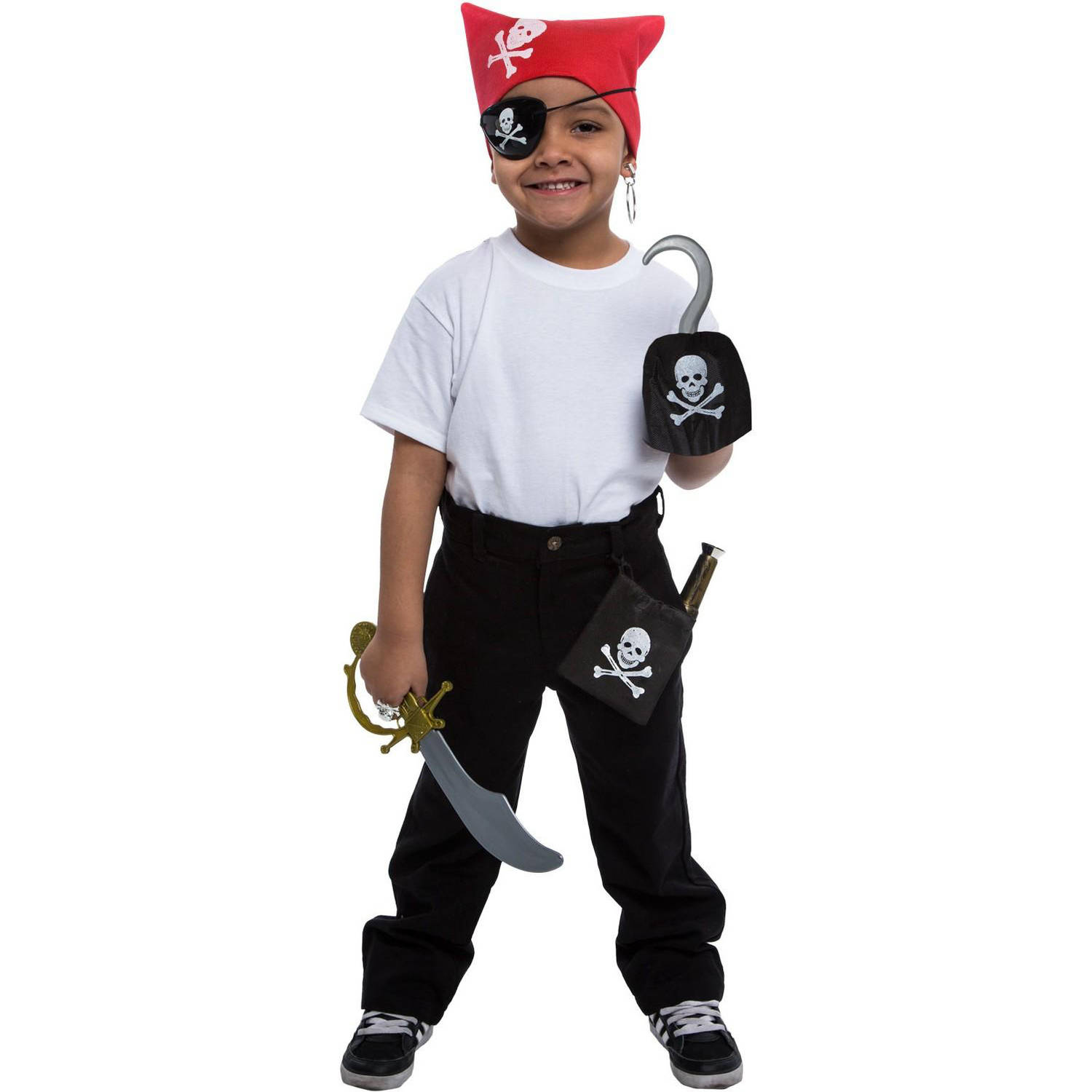 Pirate Dress Up Accessory Kit Halloween Accessory by Generic