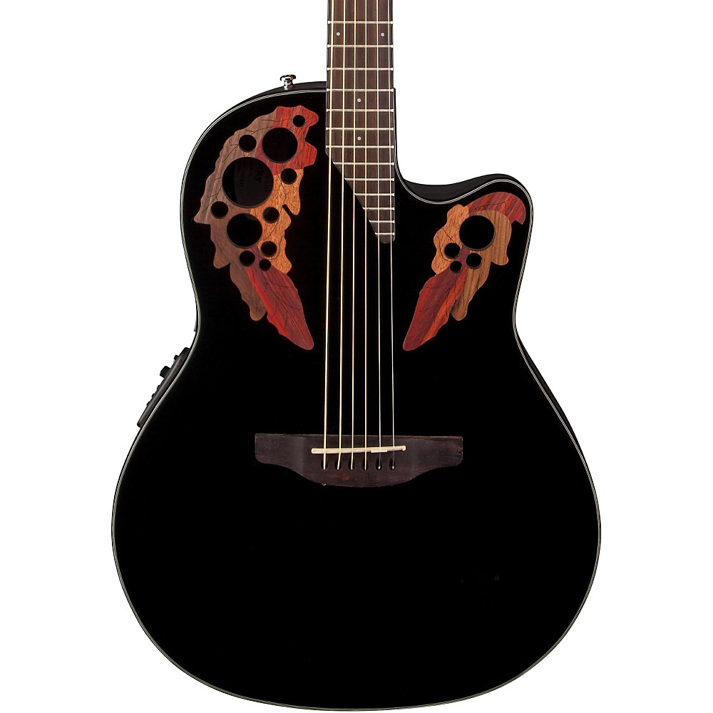 Ovation Celebrity® Elite, Mid-Depth Cutaway, (Black)