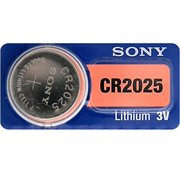 Sony CR2025 3 Volt Lithium Coin Watch Batteries (2 Batteries)