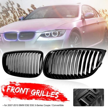 Gloss Black Front Kidney Grilles Grill For BMW 3-Series E92 E93 328i 2DR Coupe