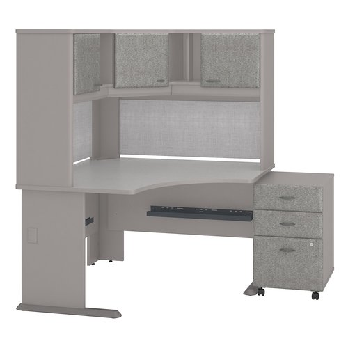 Bush Business Furniture Series A 3 Piece Corner Desk Office Suite
