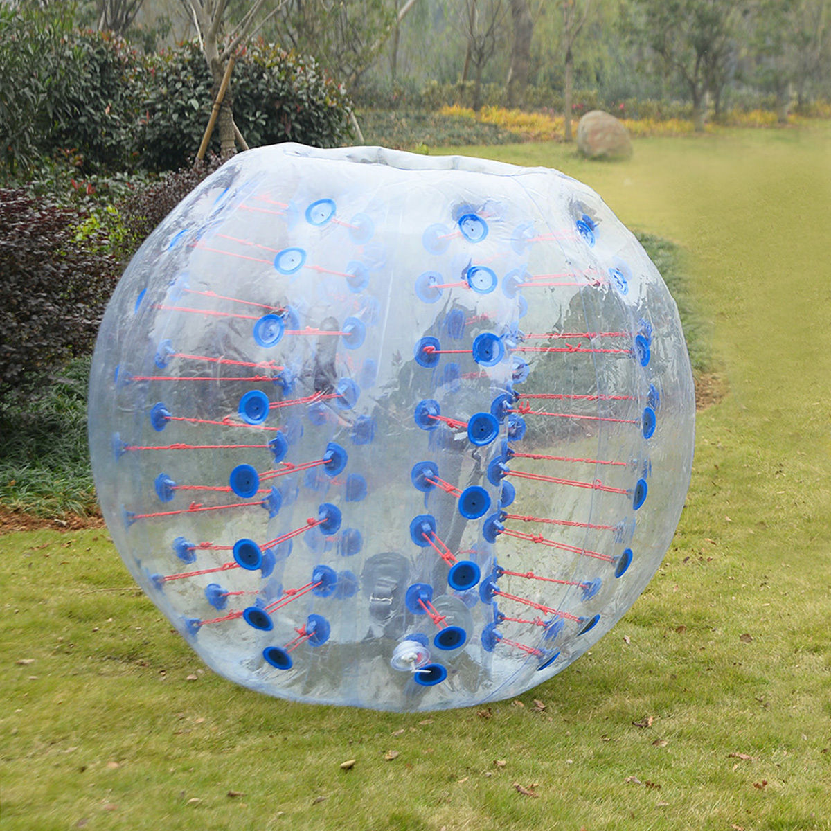 Costway 1 PC 1.5M Inflatable Bumper Ball Body Zorbing Ball Zorb Bubble Soccer Football by Costway
