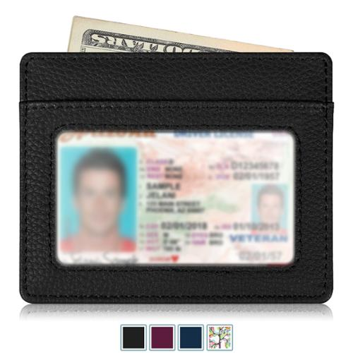 Fintie Credit Card Holder with ID Window - RFID Blocking PU Leather Ultra Slim Wallet Credit Card Case Sleeve, Black
