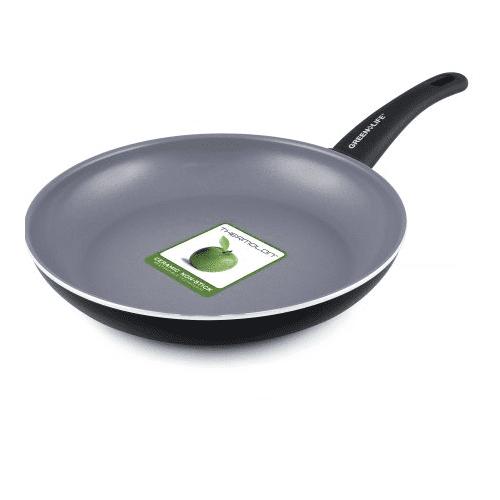 "GreenLife Healthy Ceramic Non-Stick 10"" Soft-Grip Black Aluminum Open Fry Pan"