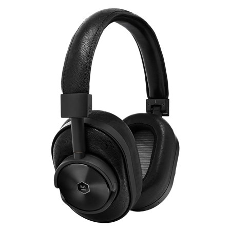 Master & Dynamic MW60 Wireless Premium Leather Over-Ear Headphones with Extended Bluetooth 4.1 Range & 45mm Neodymium Driver- Black/Black