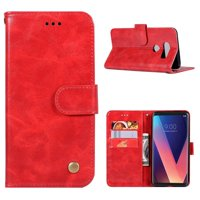 Product Image LG V30 Case, Mooncase [Vintage Series] Premium Leather Magnetic Flip Case ID Card