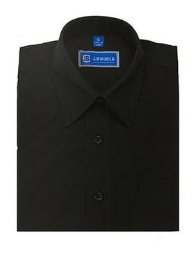 JB World Boys Black Short Sleeve Button Front Uniform Dress Shirt