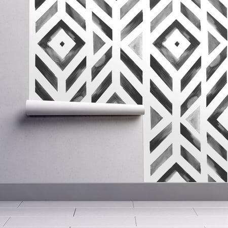 Diamond Toss Wallpaper - Peel-and-Stick Removable Wallpaper Watercolor Diamonds Geometric Watercolor Geo