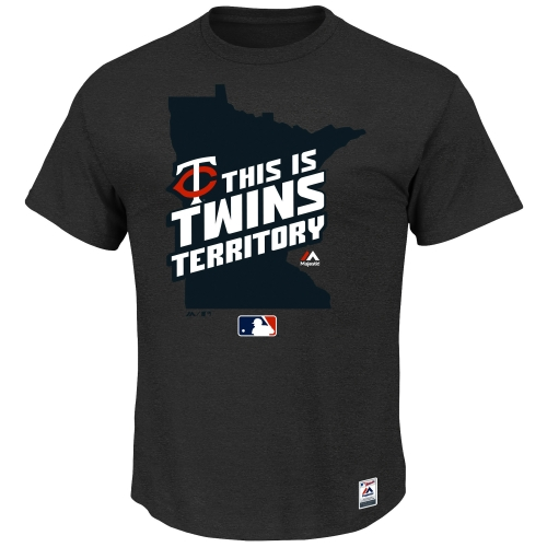 Minnesota Twins Majestic Authentic Collection Team Driven T-Shirt - Charcoal