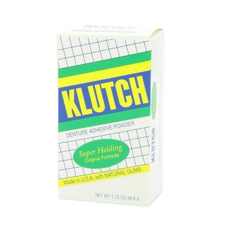 Klutch Denture Adhesive Powder - 1.75 Oz(Pack of 6) ()